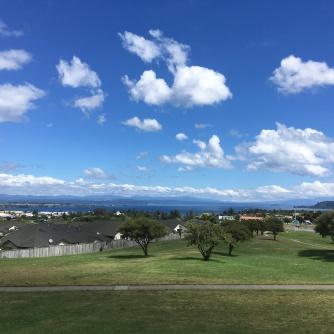 Taupo blue sky